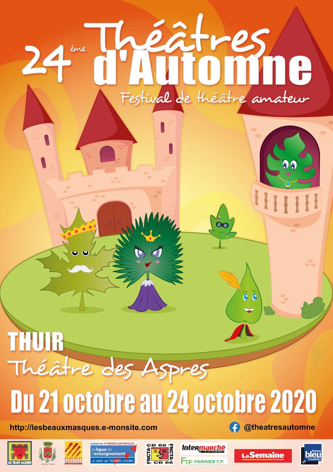 Affiche 2020 Théâtres d'Automne